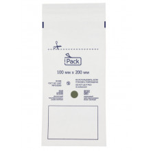 Пакет iPack  из бумаги, самоклеящийся 100x200 мм.