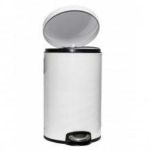 Корзина для мусора с педалью Lux белая, 20 литров