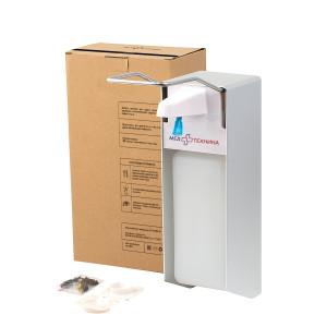 Локтевой дозатор для антисептика и мыла (алюминевый корпус), 1 л.