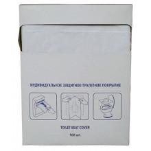 Индивидуальные туалетные покрытия по 100 листов 1/4 сложения